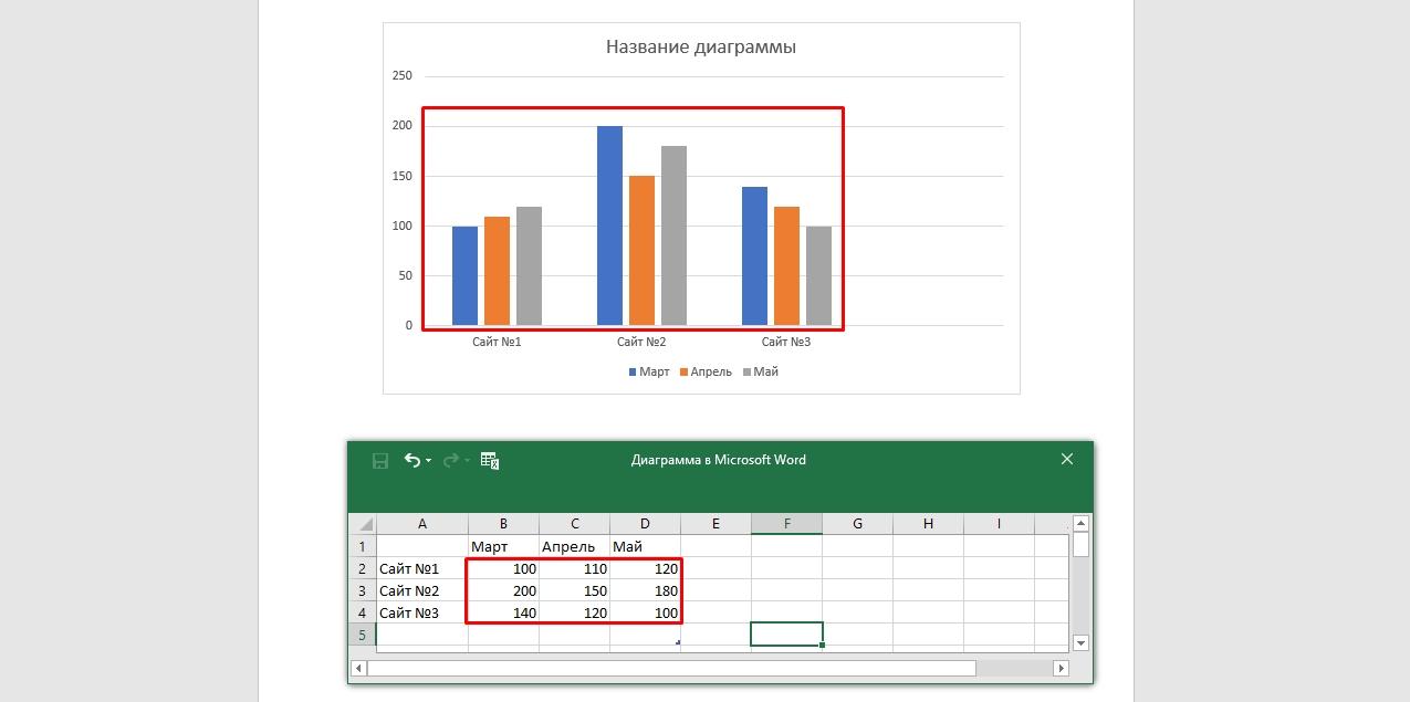 Вписывание параметров